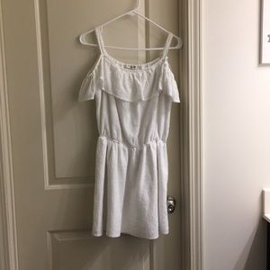 Abercrombie kids white off shoulder dress!